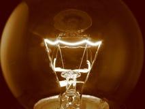 电灯泡细丝光 免版税图库摄影