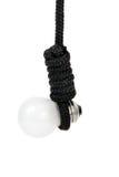 电灯泡结尾白色 免版税库存照片