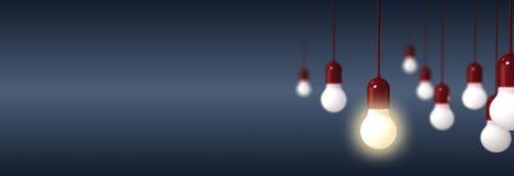 电灯泡翻译在蓝色背景的 皇族释放例证