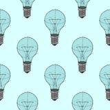 电灯泡背景样式 库存图片