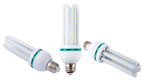 电灯泡能源导致轻的节省额 库存图片