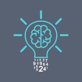 电灯泡脑子 库存图片