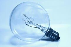 电灯泡蓝绿色光 库存照片