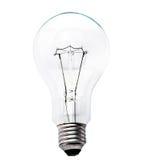 电灯泡被隔绝的白色 库存图片