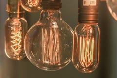 电灯泡装饰(前面焦点) 库存照片
