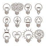 电灯泡设计 向量例证