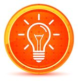电灯泡象自然橙色圆的按钮 向量例证