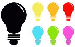 电灯泡象 向量例证