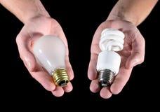 电灯泡选择光 库存图片