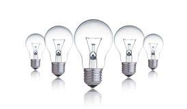 电灯泡闪亮指示 库存图片