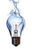 电灯泡闪亮指示 图库摄影