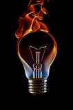 电灯泡闪亮指示 免版税库存图片