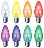 电灯泡颜色光 免版税库存照片