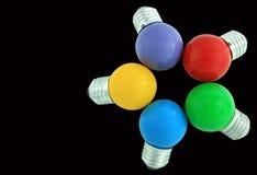 电灯泡颜色光 免版税图库摄影