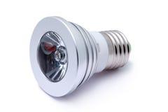电灯泡颜色查出导致的轻的多白色 免版税库存照片