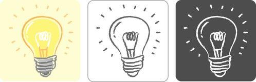 电灯泡颜色草图 库存照片