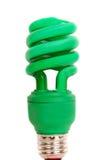 电灯泡高效的能源绿灯 库存图片