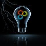 电灯泡齿轮 免版税库存图片