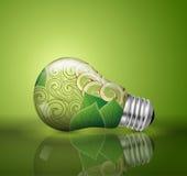 电灯泡,生态概念 免版税库存照片
