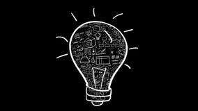 电灯泡-想法和infographics积土 库存例证