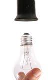 电灯泡更改的光 免版税库存照片