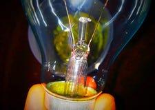 电灯泡100电压 库存照片