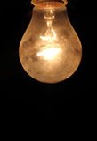 电灯泡-黄色轻的爱迪生 免版税库存图片