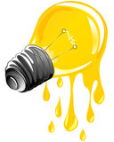 电灯泡水滴能源光 库存照片