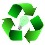 电灯泡eco recycke 库存图片
