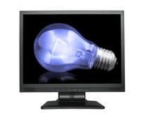 电灯泡lcd轻的屏幕 免版税库存照片