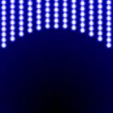 电灯的光亮帷幕 传染媒介例证tem 免版税库存图片