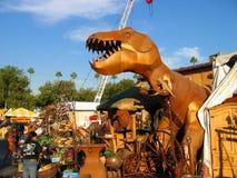 电烙艰苦跋涉恐龙,莒土气,洛杉矶郡市场, Fairplex,波诺马,加利福尼亚 免版税库存照片