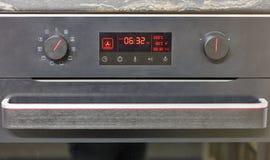 电烤箱显示特写镜头 免版税库存照片