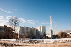 电烫,俄罗斯, 2月, 06日 2016年:冬天都市风景 免版税图库摄影