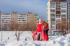 电烫,俄罗斯- 2016年3月13日:孩子参加competiti 免版税库存照片