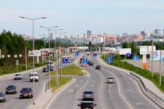 电烫,俄罗斯- 2015年6月03日:电烫城市的全景 免版税库存图片