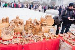 电烫,俄罗斯- 2016年3月13日:贸易失去作用与从b的产品 免版税图库摄影