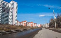 电烫,俄罗斯- 4月16 2016年:住宅复合体 免版税库存图片