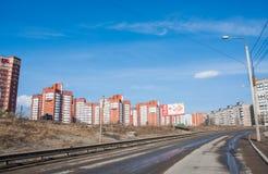 电烫,俄罗斯- 4月16 2016年:住宅复合体 库存照片