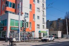 电烫,俄罗斯- 4月30 2016年:城市风景 免版税库存照片