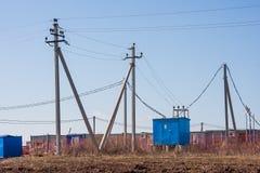 电烫,俄罗斯- 4月16 2016年:改变工作者的房子 库存图片