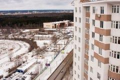 电烫,俄罗斯10月31,2015 :电烫城市,一个新的大厦 免版税库存图片