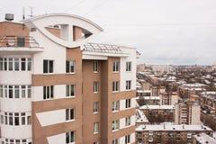 电烫,俄罗斯10月31,2015 :电烫城市,一个新的大厦 库存图片