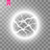 电球闪电的透明光线影响 不可思议的等离子球 皇族释放例证