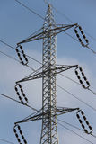 电生产线上限次幂 免版税库存照片