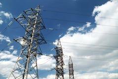 电生产线上限电压 库存图片