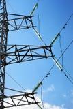 电生产线上限电压 免版税库存照片