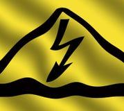 电的危险 向量例证