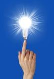 电的电灯泡 免版税库存照片