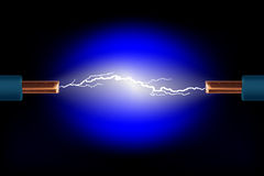 电的电缆 库存图片